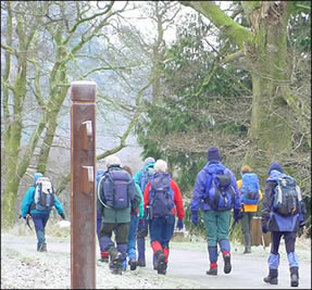 Recreational Walkers at Wicklow Mountains National Park