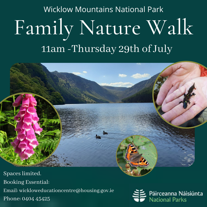 Family Nature Walk July 2021 Event Poster